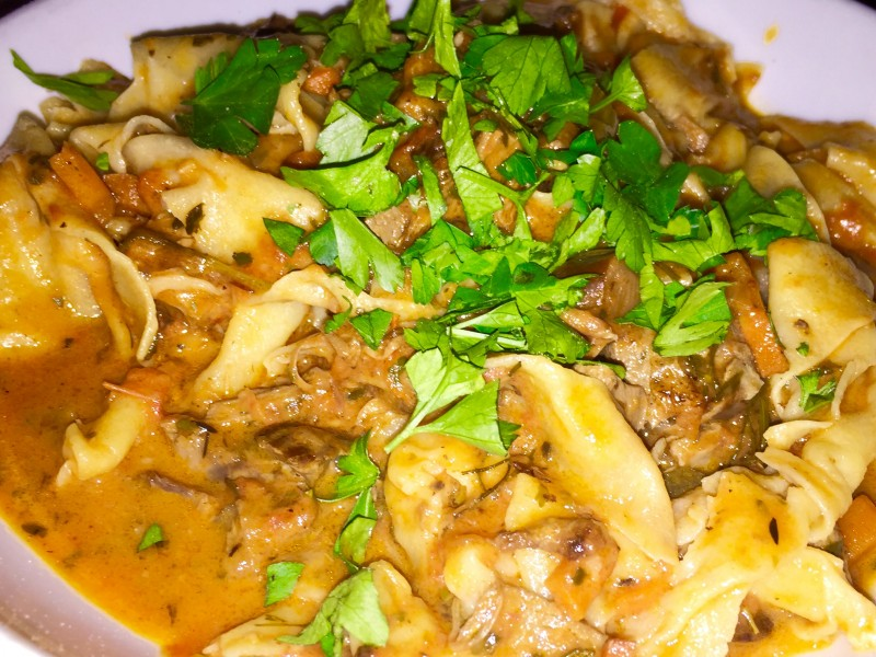 HOME MADE PASTA WITH SLOW BRAISED LAMB RAGU